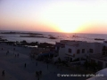 sunset over the square in Essaouira
