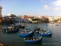 fishing boats in the bay at Imssouane