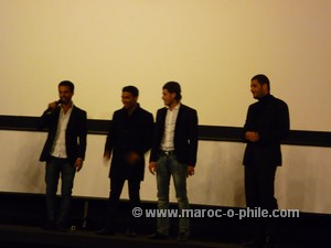 Nabil Ayouch (far R) with Horses of God cast