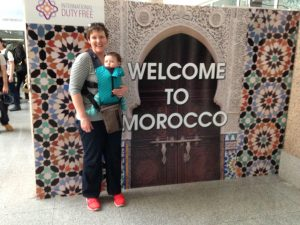 when travelling wiht a baby in Essaouira, a baby carrier is essential